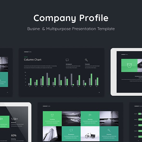 company profile presentation template ppt by udea graphicriver