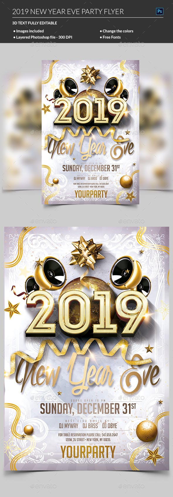 new year eve party flyer by madridnyc graphicriver