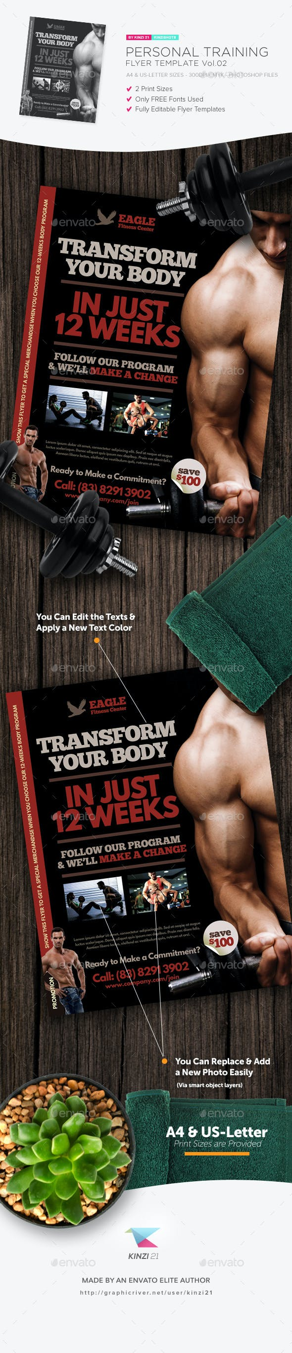personal training flyer template v 02 by kinzishots graphicriver