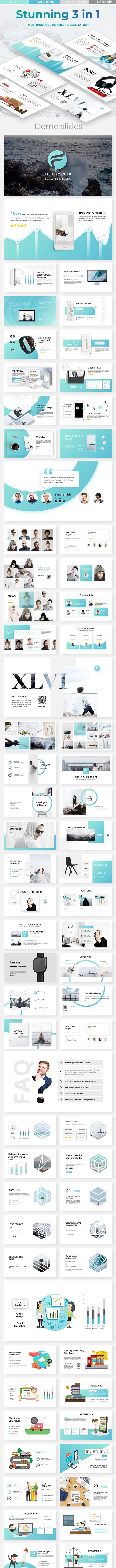 stunning 3 in 1 bundle creative powerpoint template by este studio