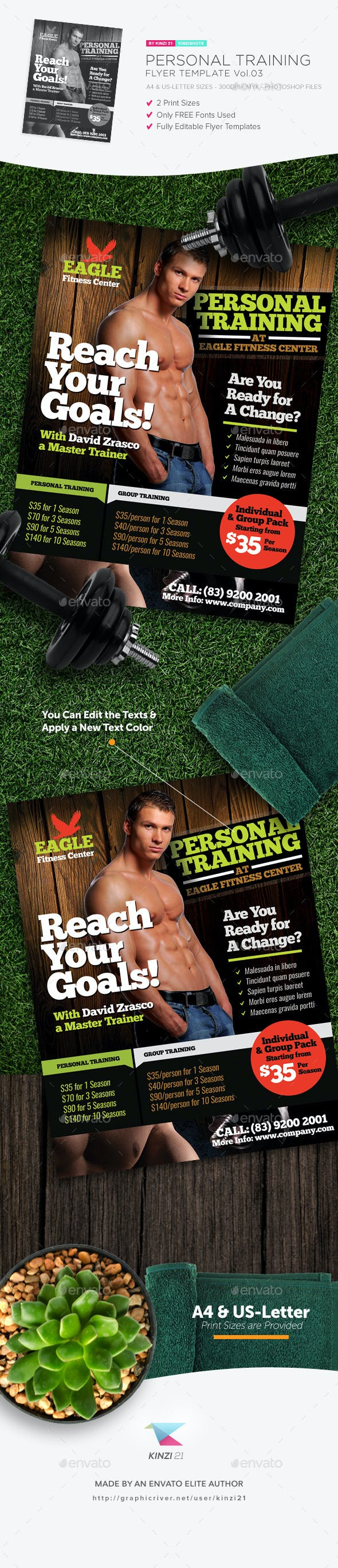 personal training flyer template v04 sports events