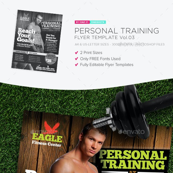 training sporting event flyer templates from graphicriver