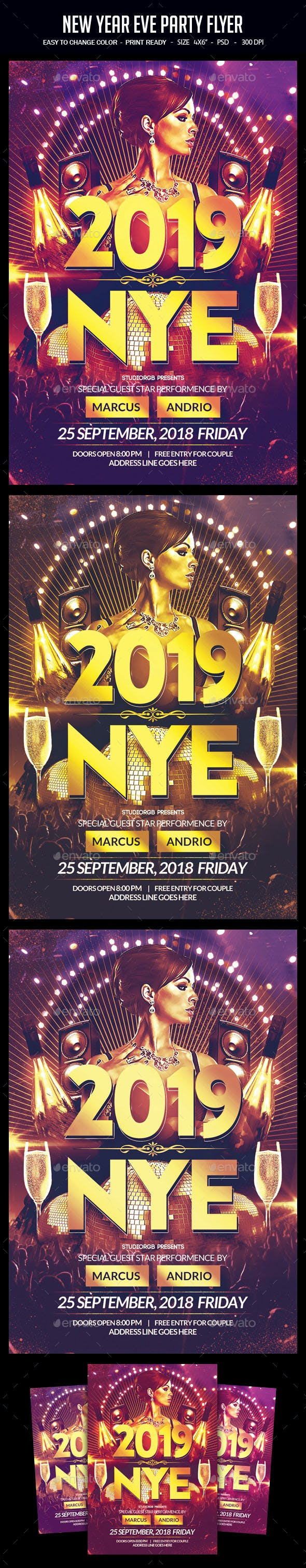 new year eve party flyer by studiorgb graphicriver