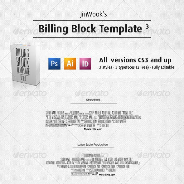 Movie Poster Credits Template Graphics Designs Templates