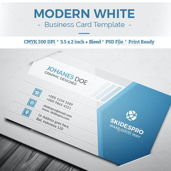 Business card templates designs from graphicriver modern white wajeb Gallery