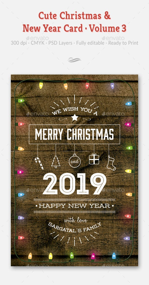 cute christmas and new year card volume 03 holiday greeting cards