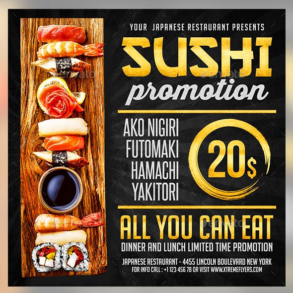 restaurant flyer templates from graphicriver
