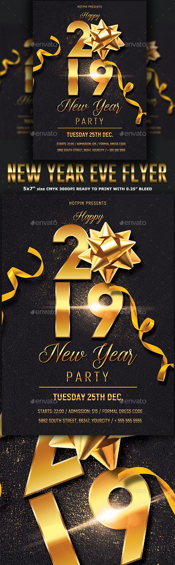 new year party flyer template clubs parties events