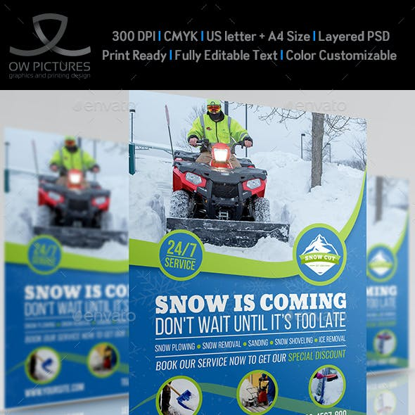 snow removal service flyer template