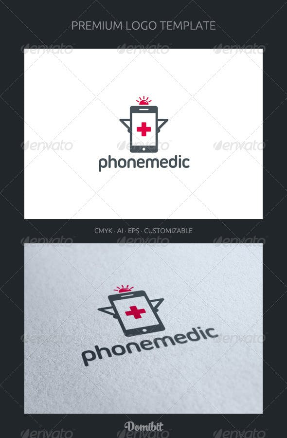phone medic logo template by domibit graphicriver