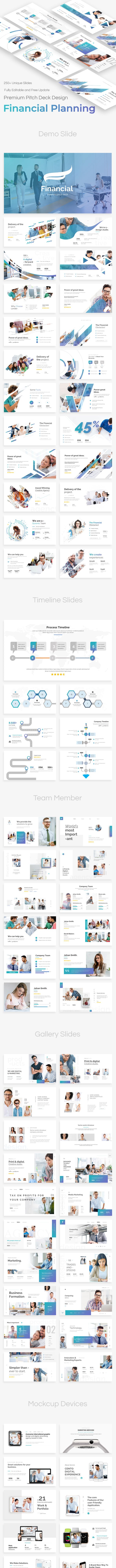 financial planning pitch deck powerpoint template by bypaintdesign