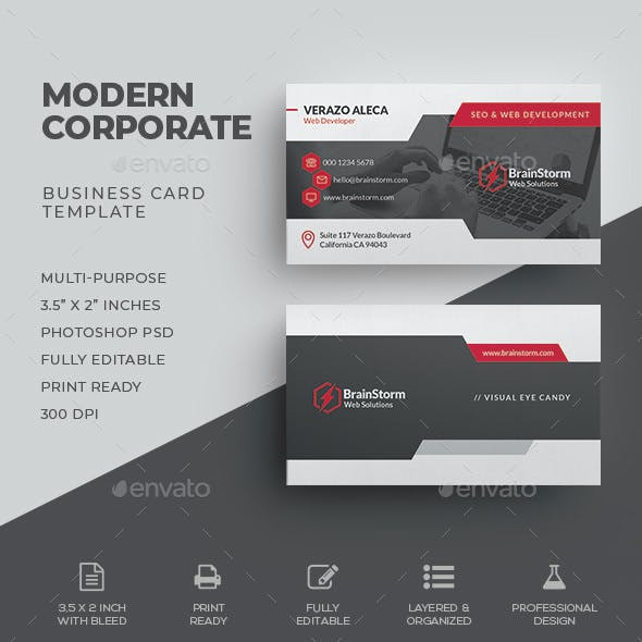 Business card templates designs from graphicriver corporate business card wajeb