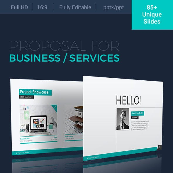Powerpoint templates from graphicriver proposal for business powerpoint presentation template accmission Image collections