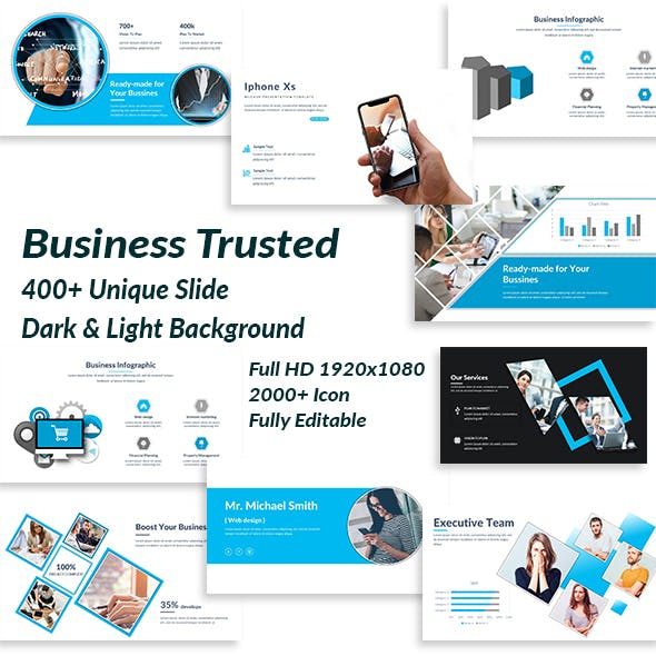 Powerpoint templates from graphicriver business trusted powerpoint template friedricerecipe Image collections
