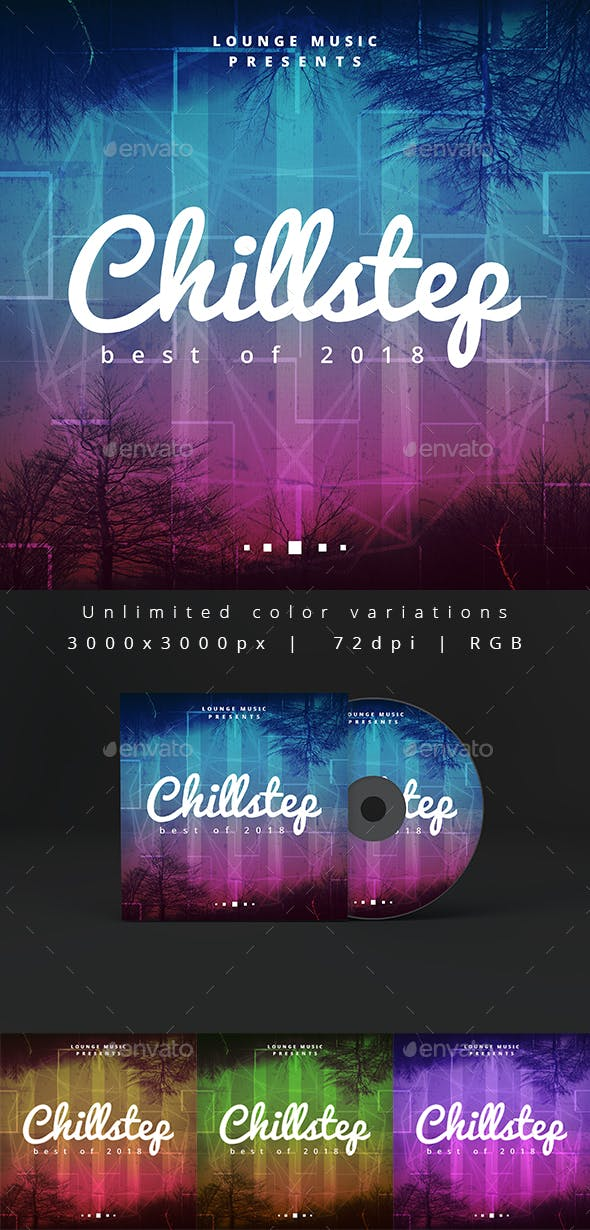 Chillstep Music Album Artwork Web Cover Template By Djjeep
