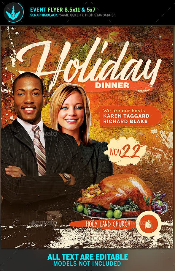 thanksgiving dinner flyer template by seraphimblack graphicriver
