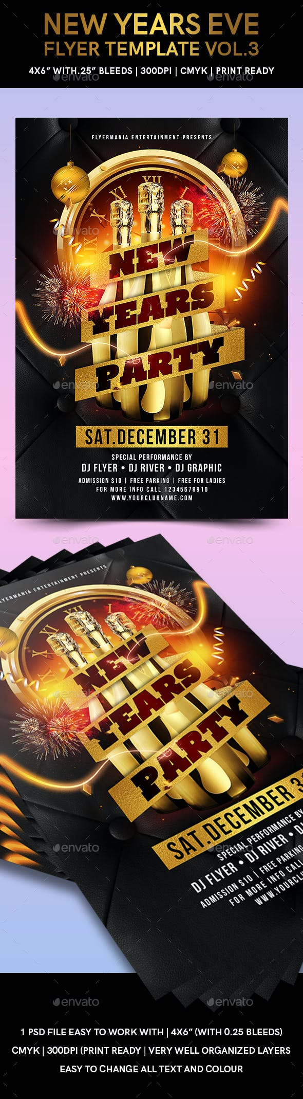 new years eve flyer template vol3 events flyers