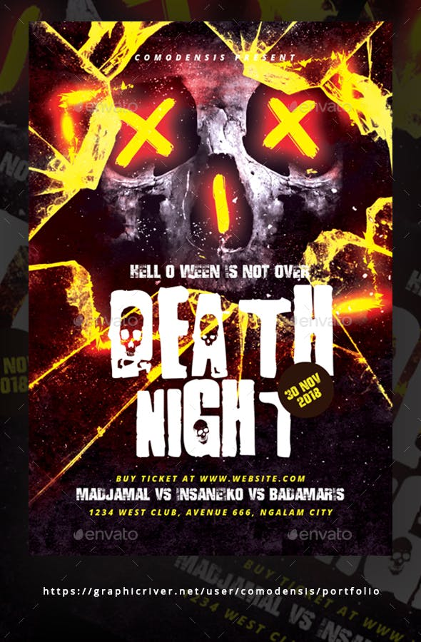 halloween party flyer templates by comodensis graphicriver