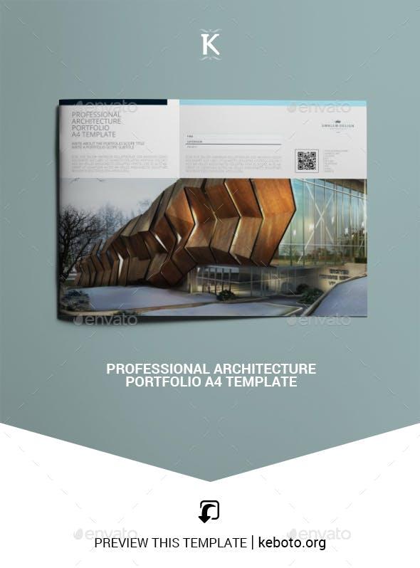 professional architecture portfolio a4 template by keboto graphicriver