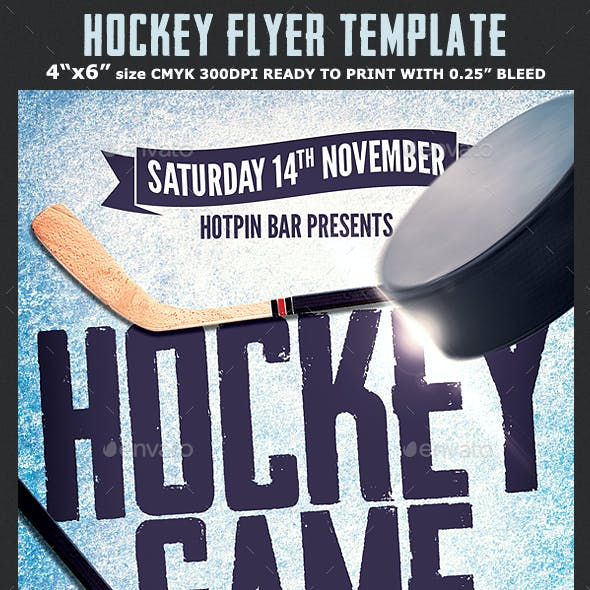 Hockey Flyer Graphics Designs Templates From Graphicriver