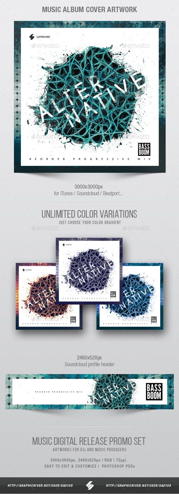 alternative music album cover artwork template by sao108