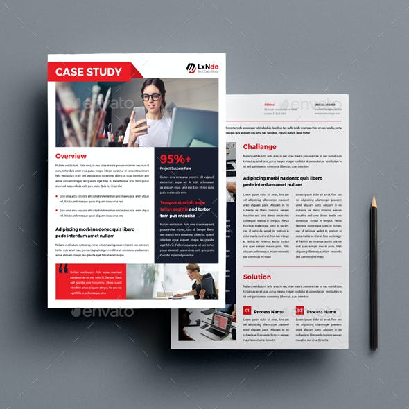 Case Study Template By Orcshape Graphicriver