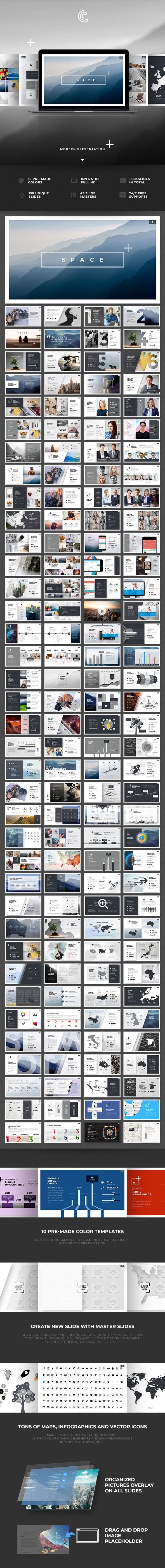 space powerpoint by alitolama graphicriver