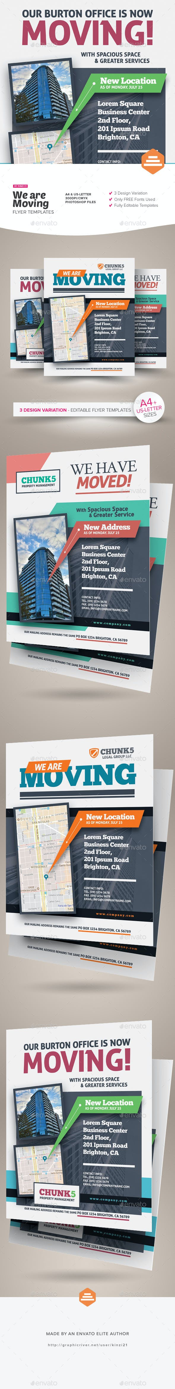 we are moving flyer templates by kinzi21 graphicriver