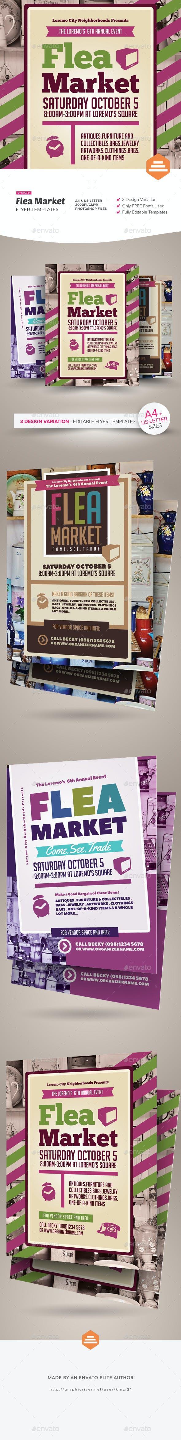 flea market flyer templates by kinzi21 graphicriver
