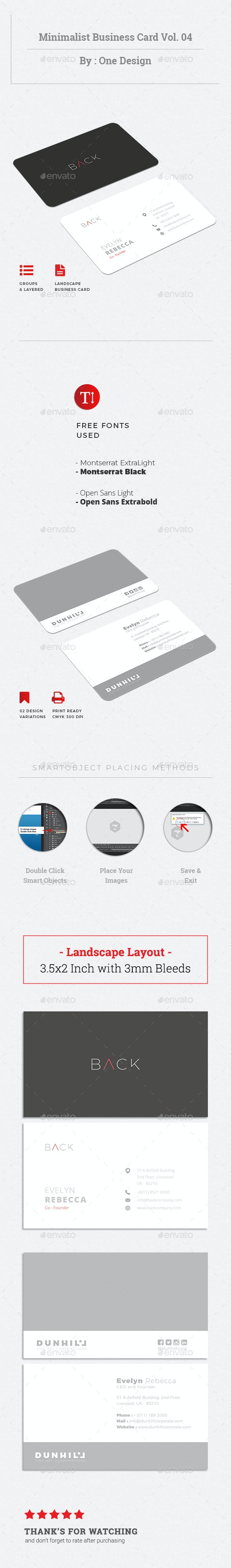 Minimalist Business Card Vol 04 By Onedsgn Graphicriver