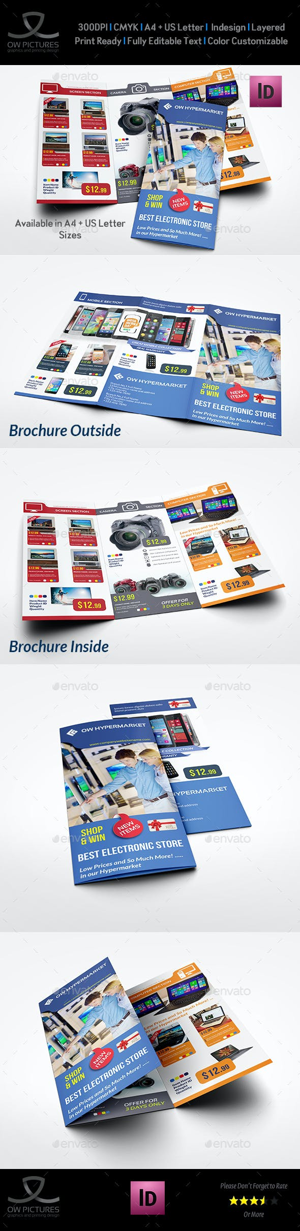 electronics products catalog tri fold brochure template catalogs brochures