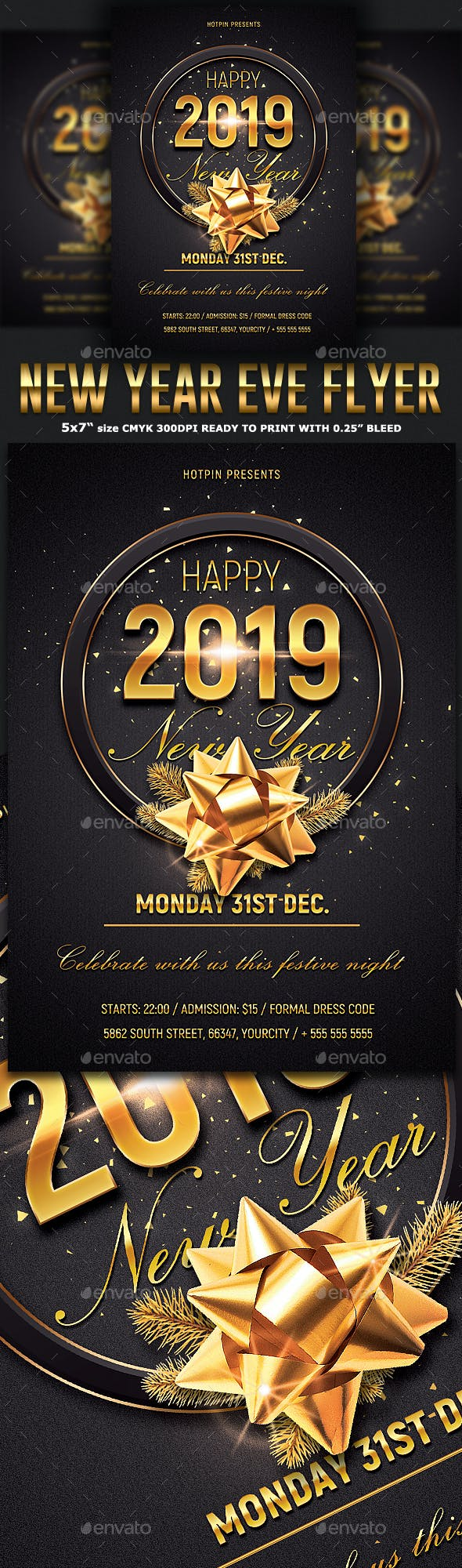 new year eve psd flyer clubs parties events