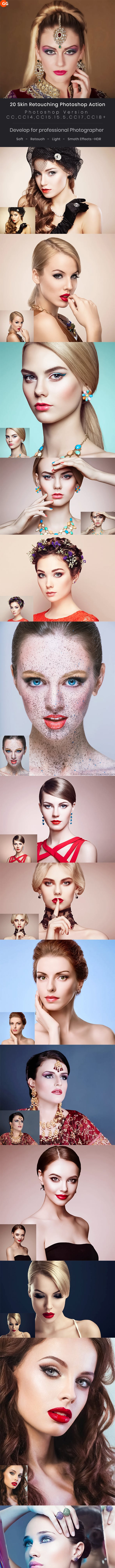20 Skin Retouching Photoshop Action 22937979