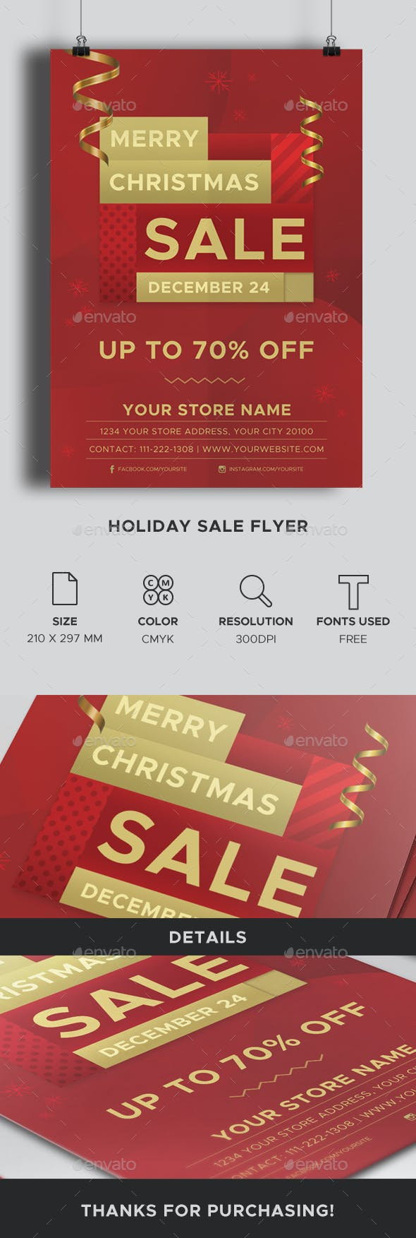 holiday sale flyer by elitevision graphicriver