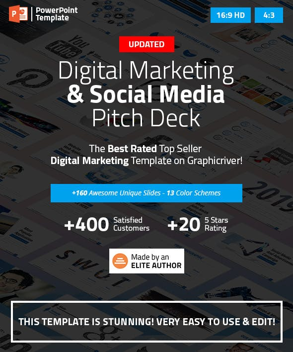 digital marketing and social media ppt pitch deck by spriteit