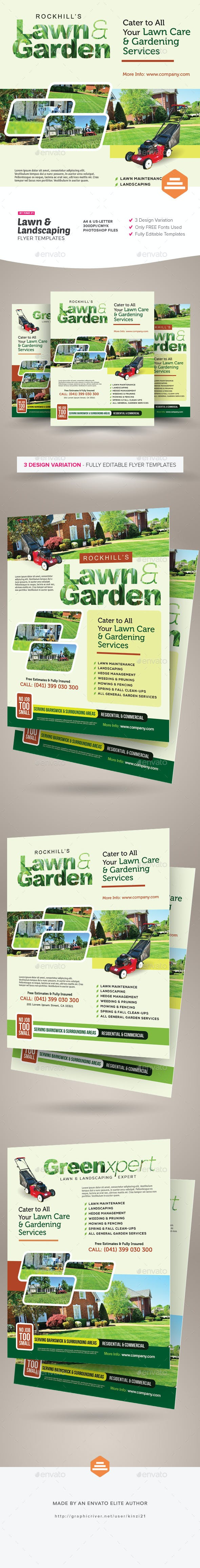 lawn landscaping flyer templates by kinzi21 graphicriver