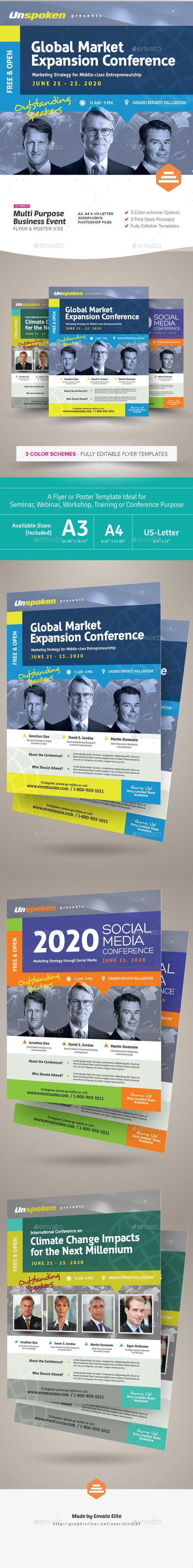multi purpose business event flyer or poster v 02 by kinzi21