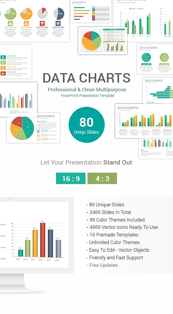 data charts powerpoint presentation template by ciloart graphicriver