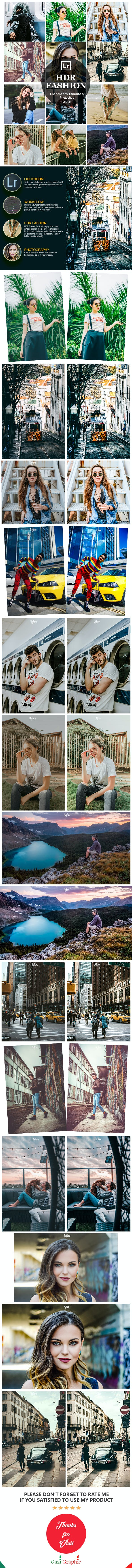 10 HDR Fashion Lightroom Desktop and Mobile Presets - HDR Lightroom Presets