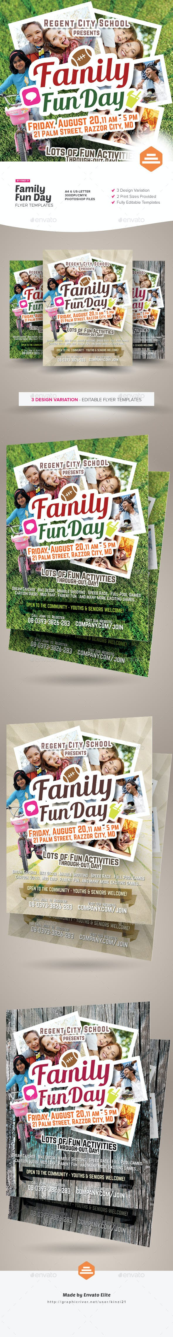 family fun day flyers by kinzi21 graphicriver