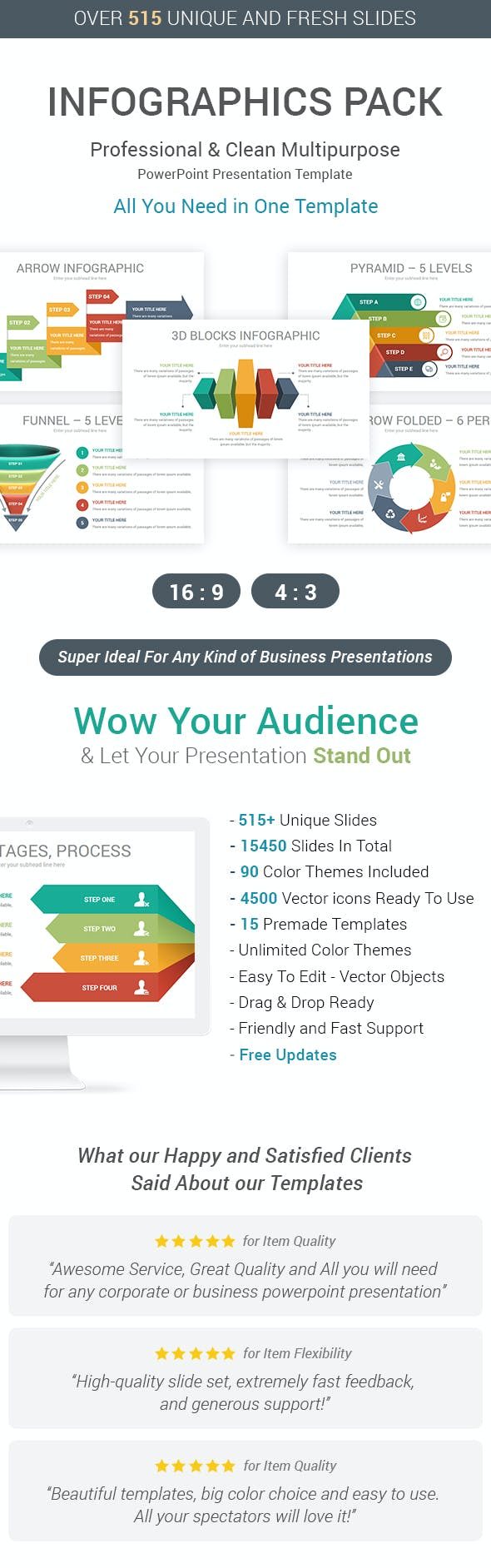 infographics pack powerpoint template by ciloart graphicriver