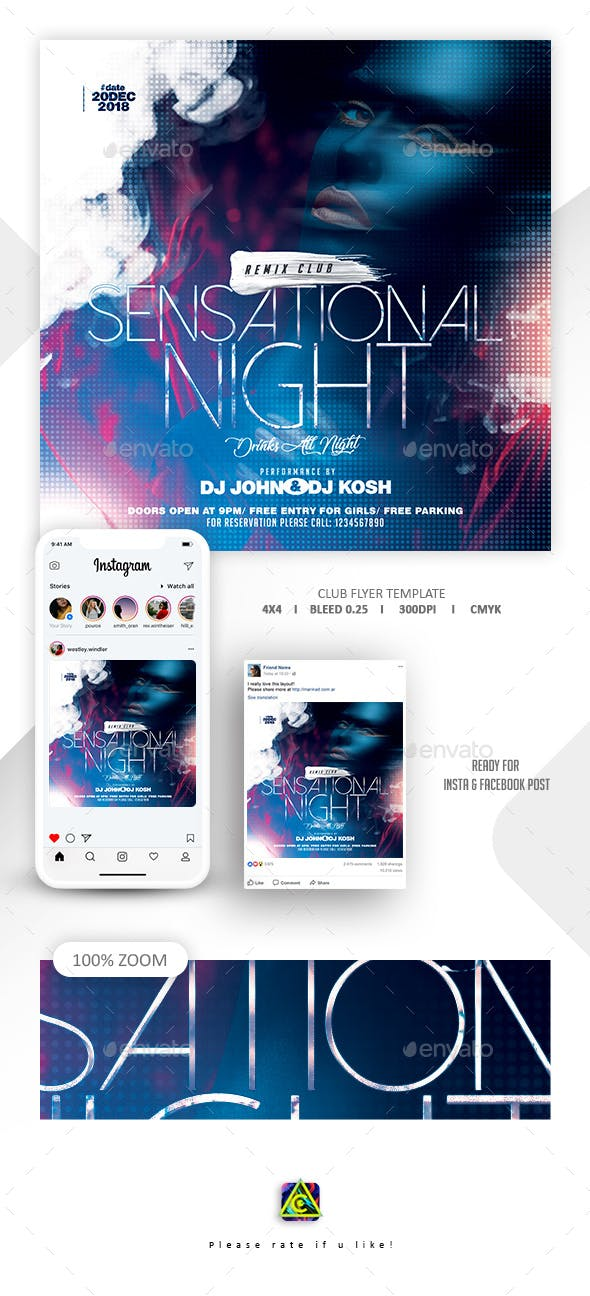 Night Club Flyer Template By Creatwitter Graphicriver