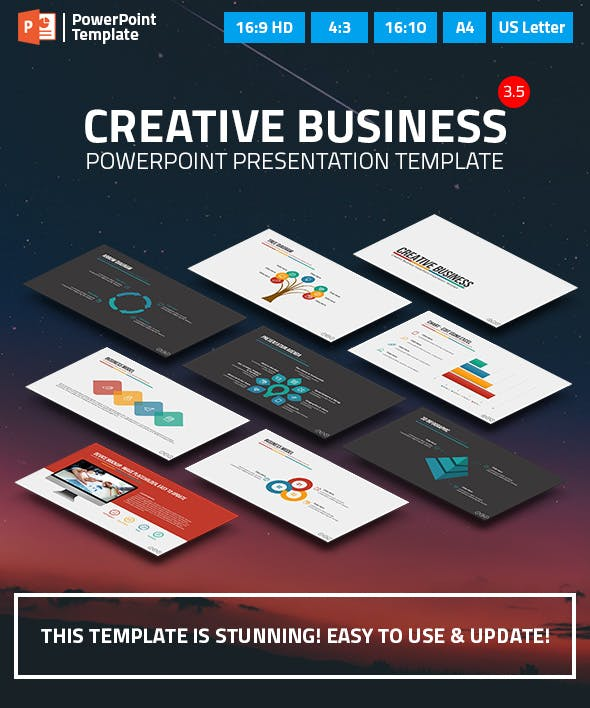 creative business powerpoint presentation template by spriteit