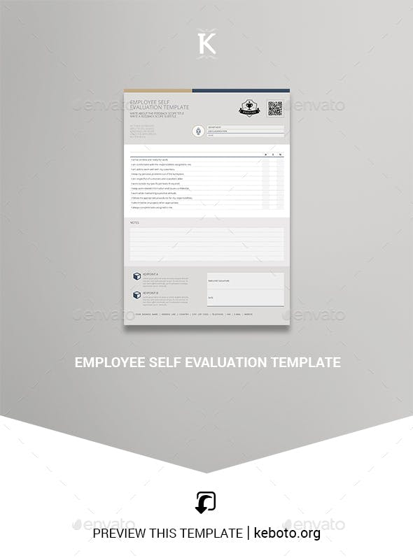 Employee Self Evaluation Template By Keboto Graphicriver