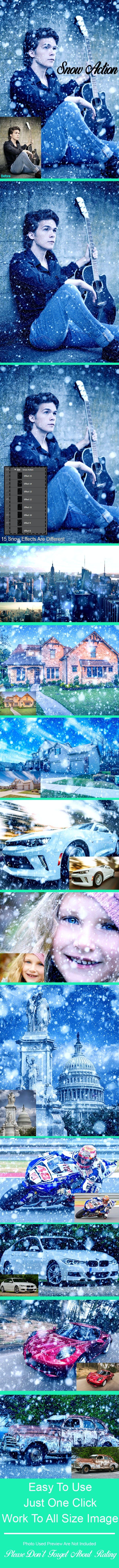 Скачать [Graphicriver] Amazing 15 Snow Photoshop Action Vol 1 (2018), Отзывы Складчик » Архив Складчин