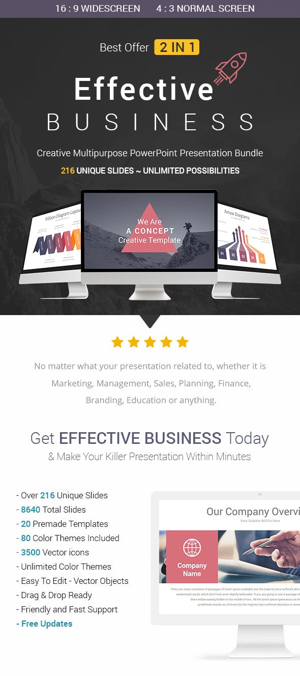Effective Business 2 In 1 Powerpoint Templates Bundle By Slidaria