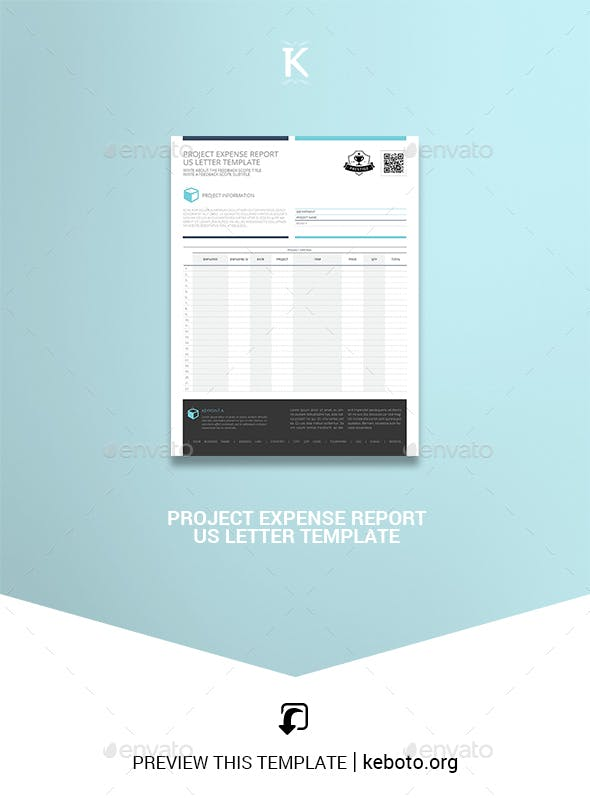 project expense report us letter template by keboto graphicriver