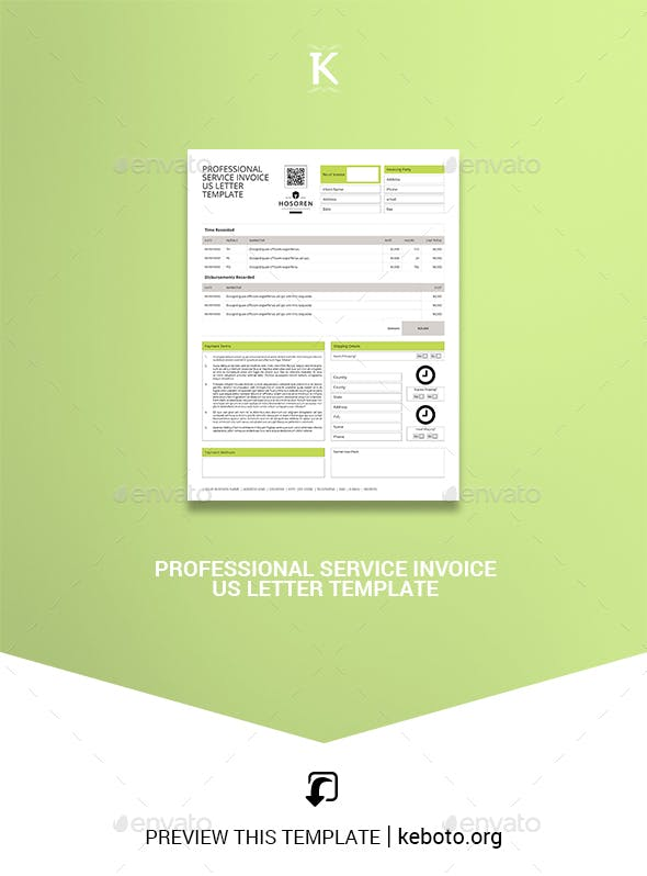 professional service invoice us letter template proposals invoices stationery