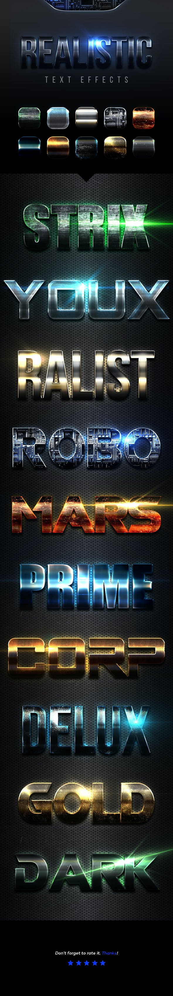 Realistic Text Effects Vol.1 - Text Effects Styles