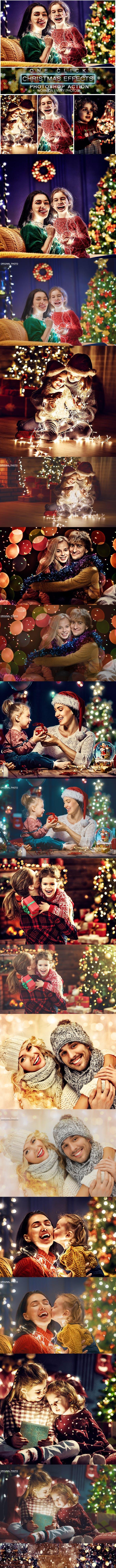 Скачать [Graphicriver] Christmas Photoshop Action (2018), Отзывы Складчик » Архив Складчин